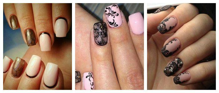 Фото дизайна ногтей на Новый год с эффектом вуали