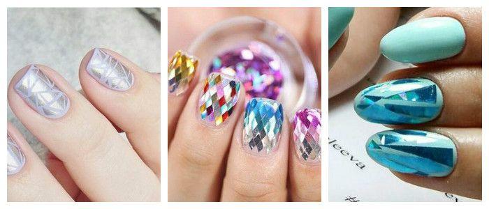 """Фото дизайна ногтей на Новый год в стиле """"Снежная королева"""""""