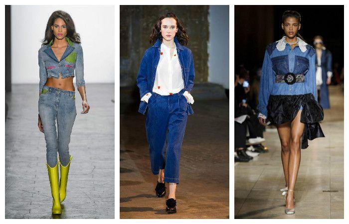 Модная джинсовая одежда осень-зима 2016 – 2017, фото