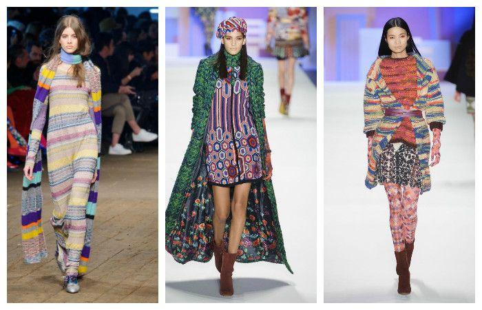 Модная вязаная одежда осень-зима 2016 – 2017, фото.