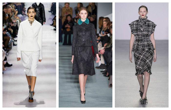 Модная деловая одежда осень-зима 2016 – 2017. Женские костюмы, фото