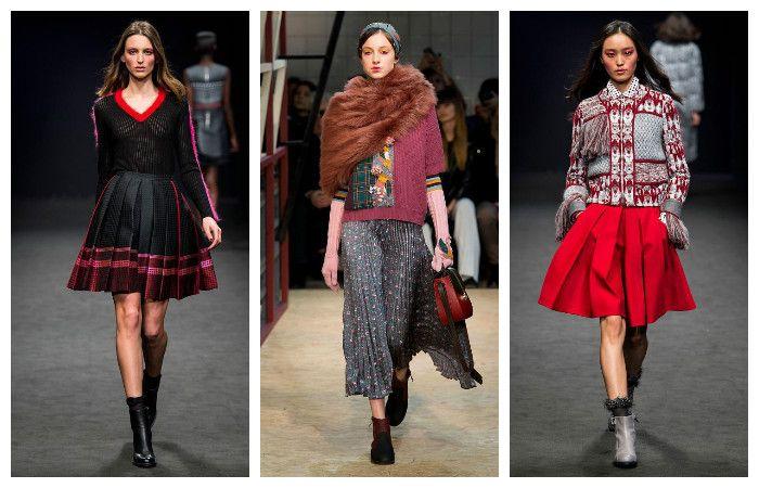 Модная одежда осень-зима 2016 – 2017. Юбки, фото