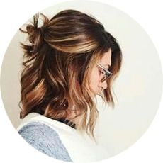 Прически на средние волосы, фото