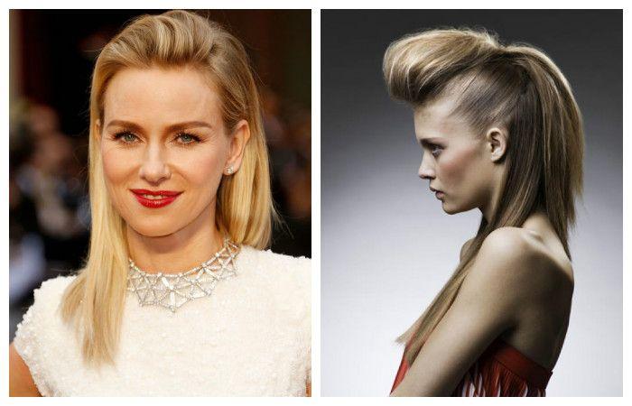 Прически с челкой назад на средние волосы