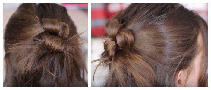 Делаем простую прическу по пошаговому фото на средние волосы