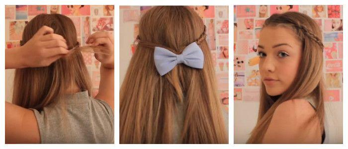Делаем быструю прическу по пошаговому фото на средние волосы