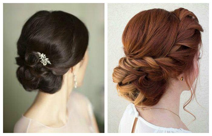 Фото свадебной прически с красивым плетением на средние волосы