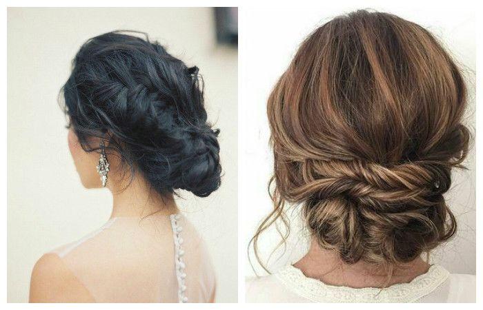 Фото свадебной прически с оригинальным плетением на средние волосы