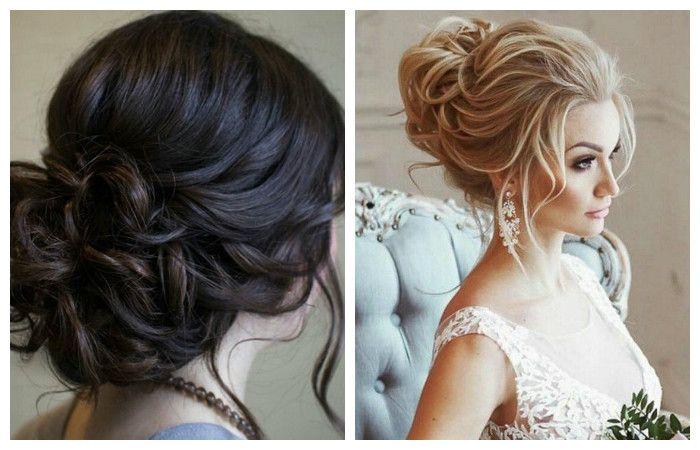 Фото свадебной прически в классическом варианте на средние волосы