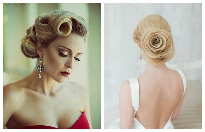 Фото оригинальных свадебных причесок с крупными локонами на средние волосы
