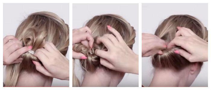 Пошаговое фото: делаем вечернюю прическу своими руками на средние волосы