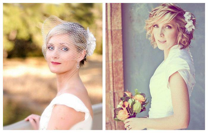 Прически на короткие волосы на свадьбу, фото