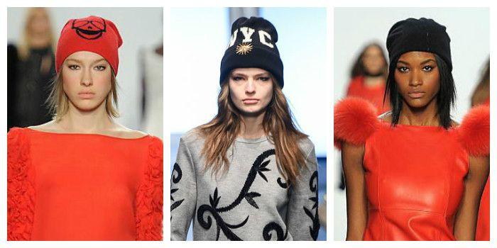 Модные вязаные шапки осень - зима 2016 - 2017, фото
