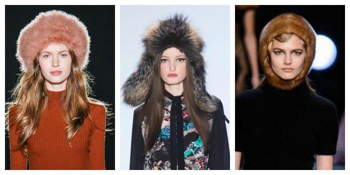 Модные меховые шапки осень - зима 2016 - 2017, фото