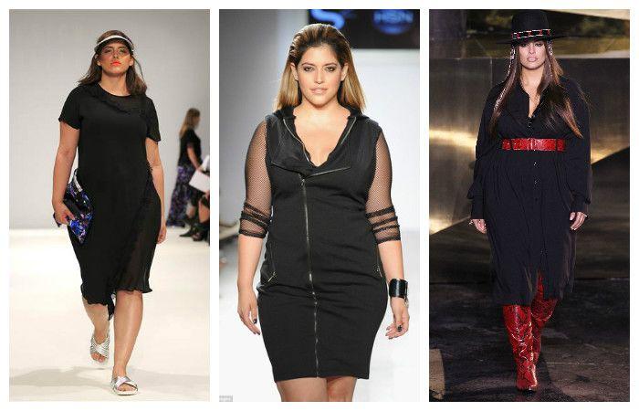 Платья черного цвета больших размеров, фото