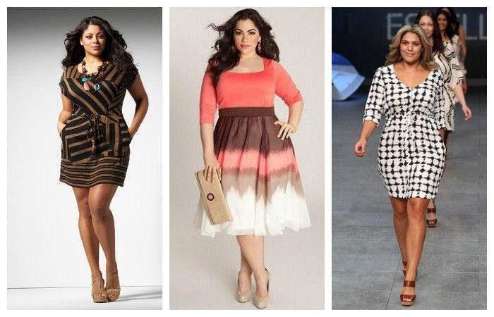 Платья с модным геометрическим принтом и полоской больших размеров, фото