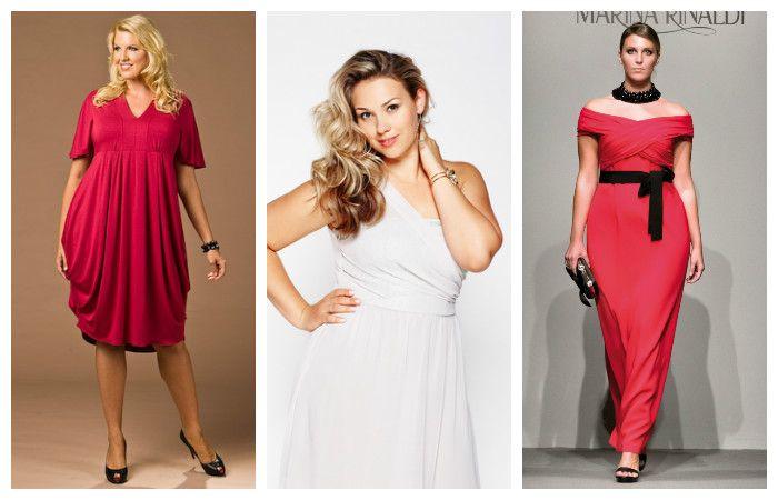 Модели вечерних платьев больших размеров, фото