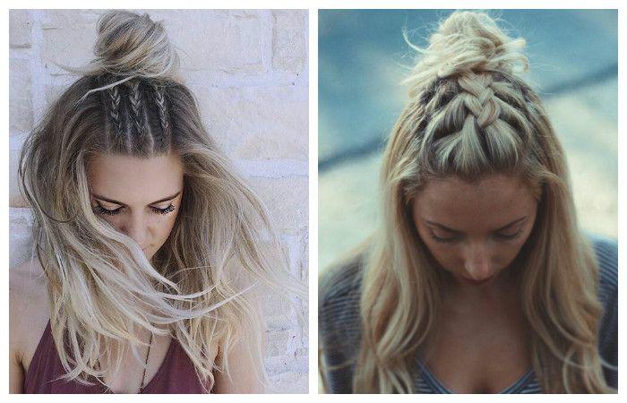"""Прическа """" Мальвина"""" в варианте в косой и длинными подкрученными волосами, фото"""