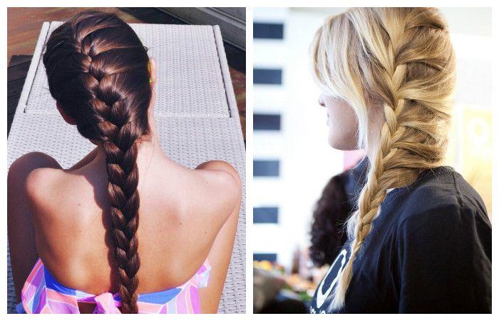 """Прическа """"колосок"""" для длинных волос, фото"""
