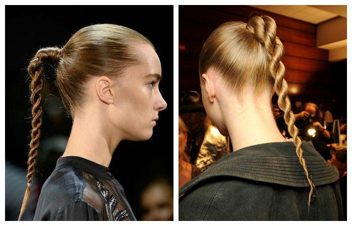 """Прическа """"жгут"""" для длинных волос, фото"""