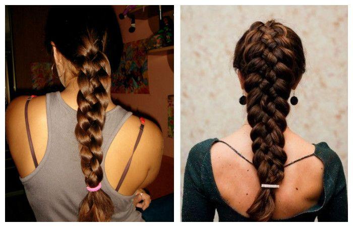 Прическа со сложным плетением для длинных волос, фотоПрическа со сложным плетением для длинных волос, фото