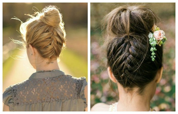 """Прическа с косой """"наоборот"""" для длинных волос, фото"""