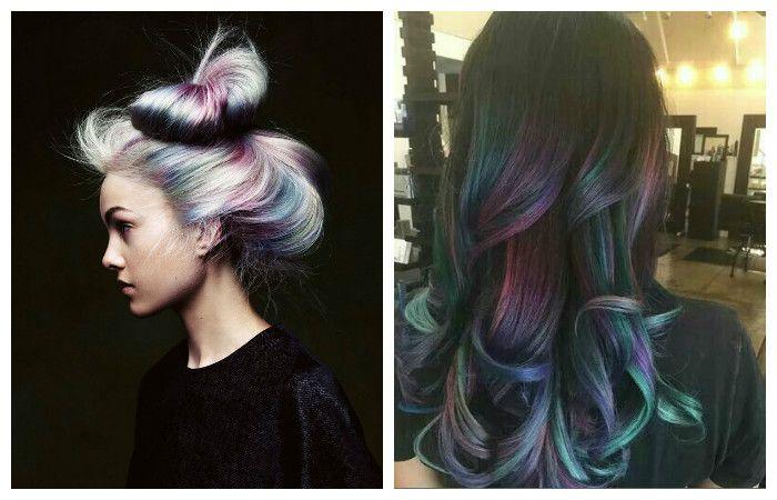 Прически с креативным окрашиванием на длинные волосы, фото