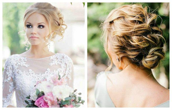 Свадебная прическа с плетением на длинные волосы, фото