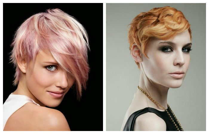 Textured styling, short haircut, photo