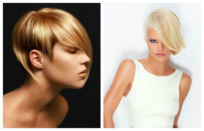 Асимметричные стрижки на короткие волосы, фото