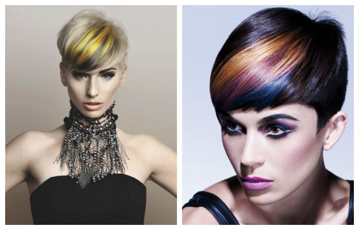 Stylish coloring of a short hairstyle, photo