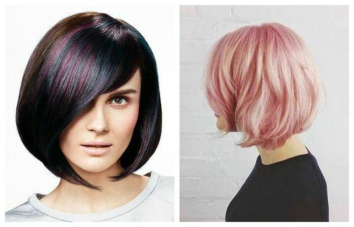 Fashionable coloring haircut square.