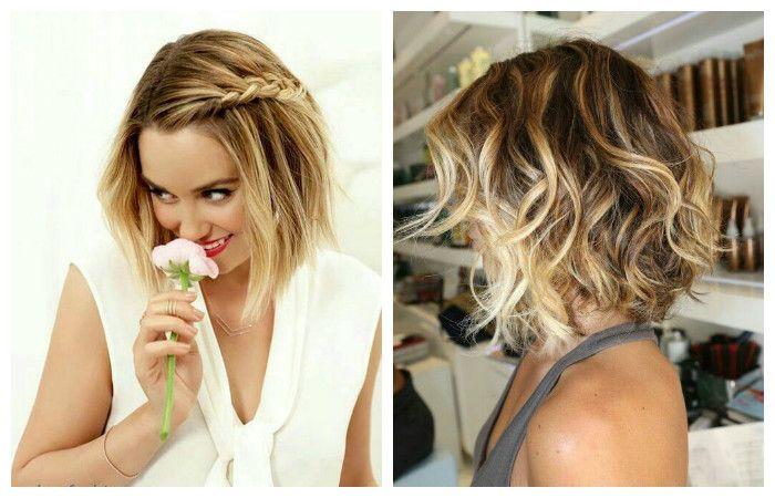 Стрижки на короткие волосы с заплетенными косами