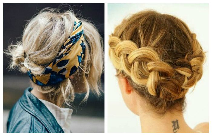 Haircuts for short hair with braided braids and accessories
