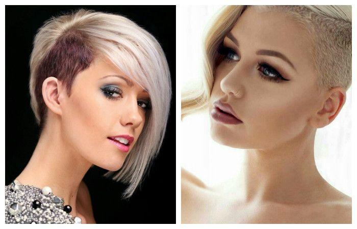 Модные стрижки с выстригом на короткие волосы, фото с примерами