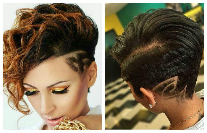 Модные стрижки с выстригом на короткие волосы