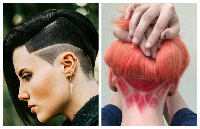 Options for haircuts with vystrigom on the sides or rear