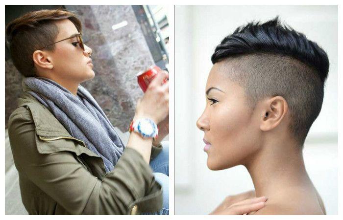 Very short female haircuts, photo