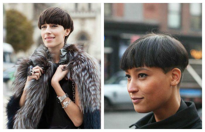 Модная стрижка на короткие волосы под горшок, фото