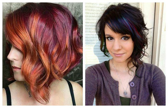 Stylish coloring bob haircut