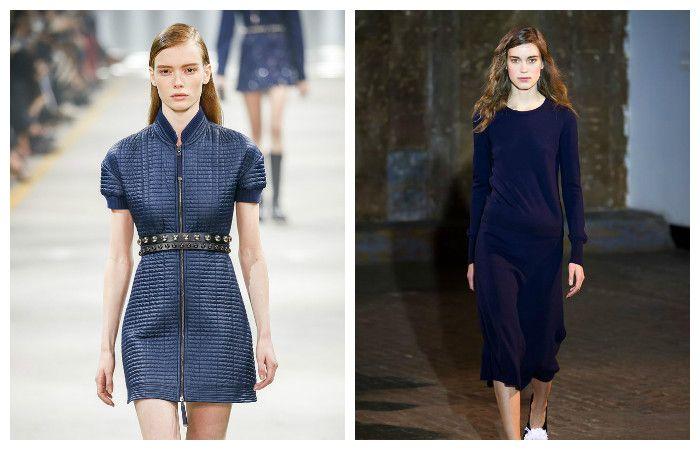 Платья модных синих оттенков