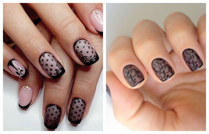 """Дизайн ногтей: френч """"вуаль"""", фото"""