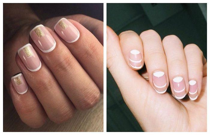 Стильный дизайн ногтей: белый френч, фото