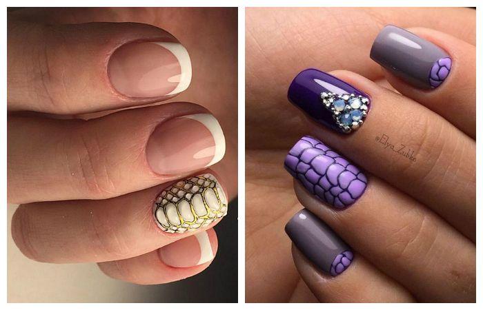 "Новинки дизайна ногтей: френч ""рептилия"", фото"