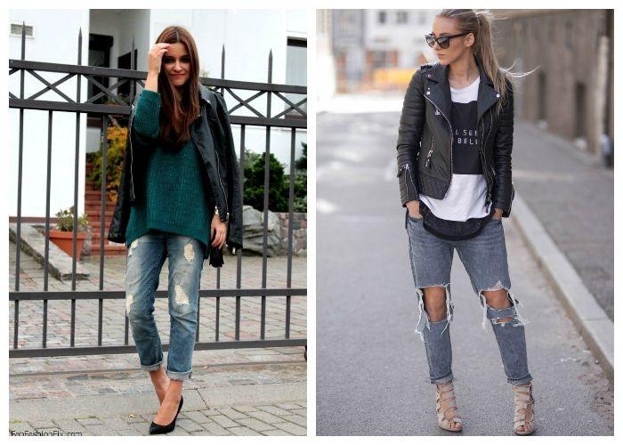 Что носить с рваными джинсами весной