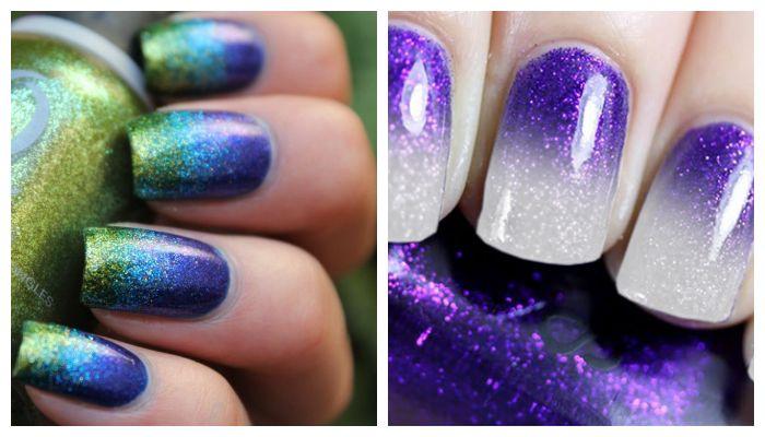 Дизайн ногтей гель лаком: миллениум омбре, фото