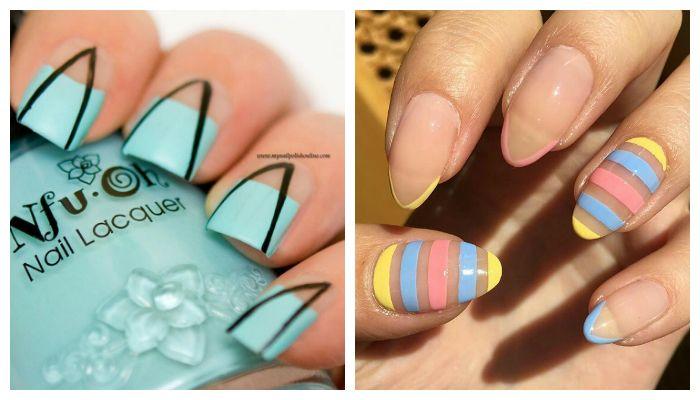 Дизайн ногтей гель лаком: новинки французского и лунного маникюра, фото