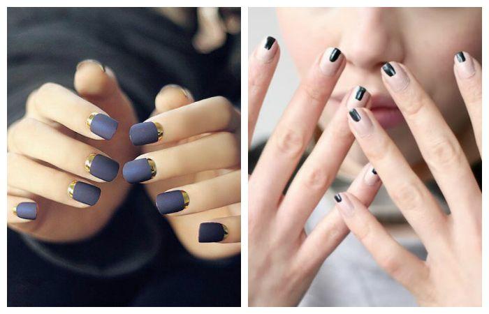 Дизайн ногтей с стиле минимализма на короткие ногти, фото