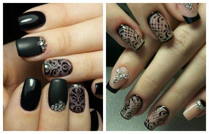 Модный прозрачный дизайн коротких ногтей, фото