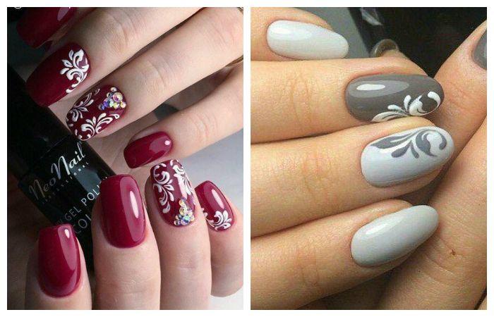 Дизайн коротких ногтей с рисунком, фото
